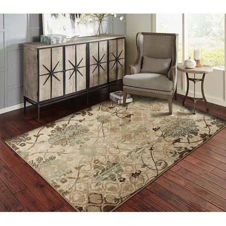Fleur De Lis Living Singer Beige Blue Indoor Outdoor Area Rug