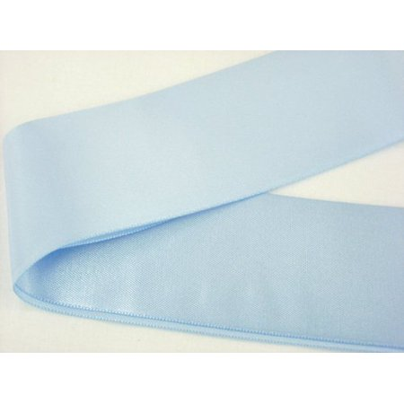 2in Satin Blanket Binding Light Blue, 100% polyester By