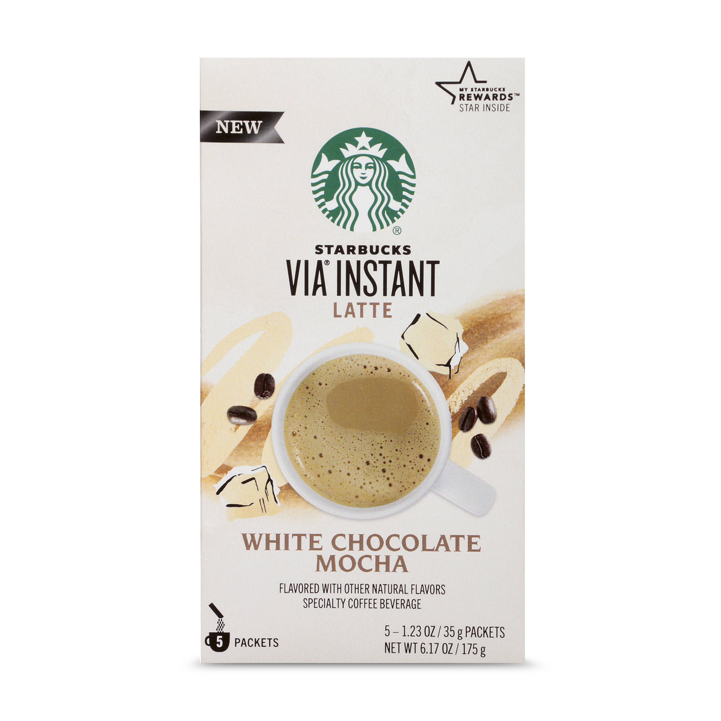 Starbucks VIA Instant White Chocolate Mocha Latte (1 box of 5 ...