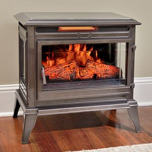 Comfort Smart Jackson Bronze Infrared Electric Fireplace Stove With Remote Control Cs 25ir