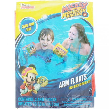 Disney Mickey and Roadster Racers Swimming Pool Inflatable Arm Floats Floaties (Children Floaties)
