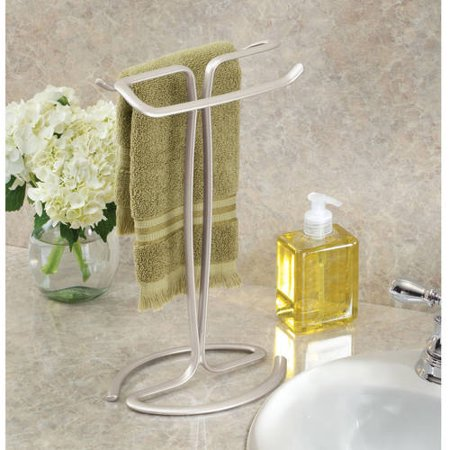 Retro Wave Guest Towel Holder (Better Homes & Gardens Satin Countertop Hand Towel Holder, 1)