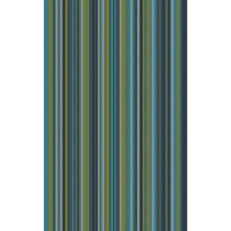 Loomi Light (3.25' x 5.25' Stripy Zen Green Hand Loomed Wool Area Throw)