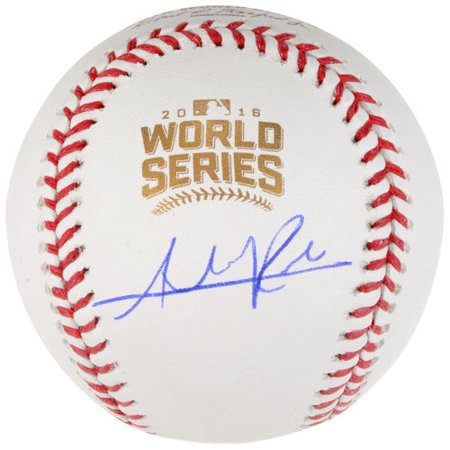 Addison Russell Chicago Cubs Autographed 2016 Mlb World Series Baseball