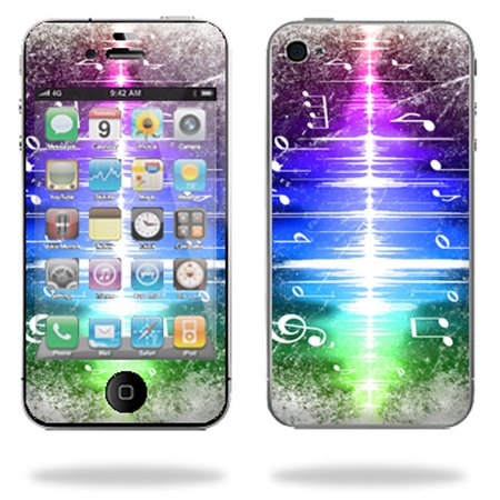 Mightyskins Protective Vinyl Skin Decal Cover for Apple iPhone 4 or iPhone 4S AT&T or Verizon 16GB 32GB Cell Phone wrap sticker skins Music Man (Verizon Music)