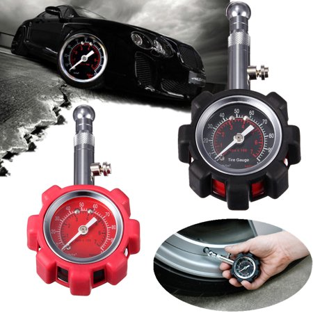 Tyre measuring Tire Air Pressure Gauge Meter Tester 0-100 PSI Car Truck Motorcycle