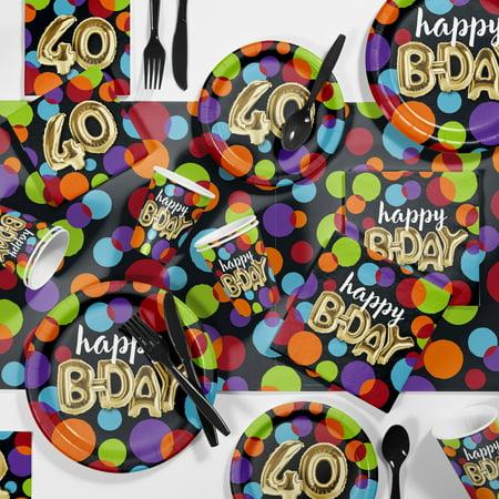 Large Balloon Birthday 40th Party Supplies Kit (40th Birthday Sash)