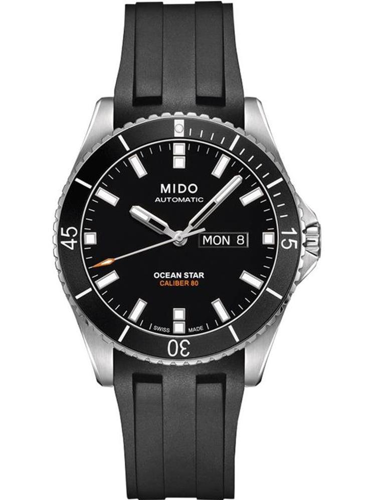 Men's Ocean Star Captain 42.5mm Black Rubber Band Steel Case Automatic Watch M026.430.17.051.00