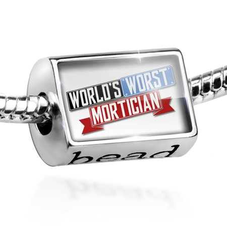 Bead Funny Worlds worst Mortician Charm Fits All European Bracelets
