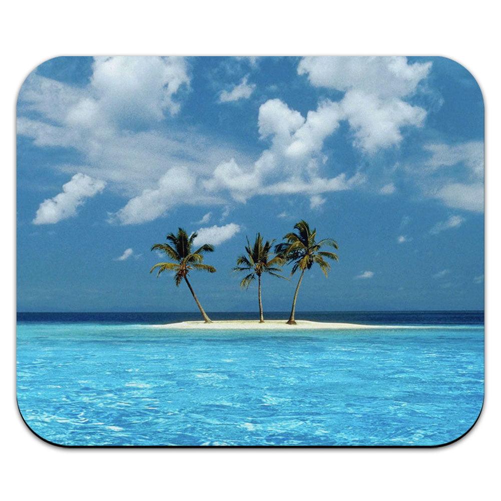 Tropical Deserted Island - Beach Ocean Mouse Pad