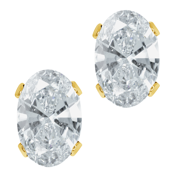 0.86 Ct 925 Yellow Gold Plated Silver Earrings Made With Swarovski Zirconia