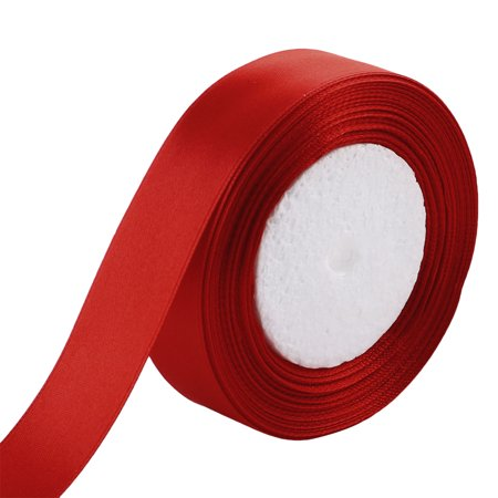 Festival Gift Packing Double Face Satin Ribbon Roll 25 Yards 23M 2.5cm Width Red](21st Birthday Ribbon)