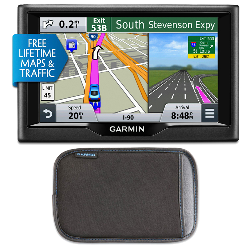 """Garmin nuvi 57LMT5"""" Essential Series 2015 GPS with Maps/Traffic and Case Kit"""