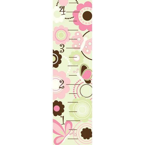 WallPops Baby Butterflies Flowers Growth Chart Decal