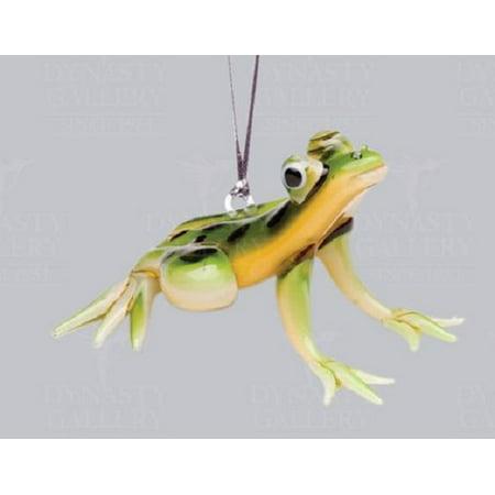 Glassdelights Tree Frog Amphibian Glass Christmas Ornament Decoration New