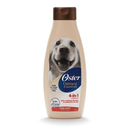 Oster oatmeal naturals 4-in-1 shampoo mango peach scent, 18-oz (Best Shampoo For Small Dogs)