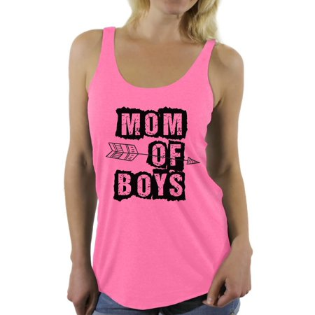 Awkward Styles Women's Mom of Boys Graphic Racerback Tank Tops Arrow Mother's Day Mom Life Boy Beater Womens Tank Top