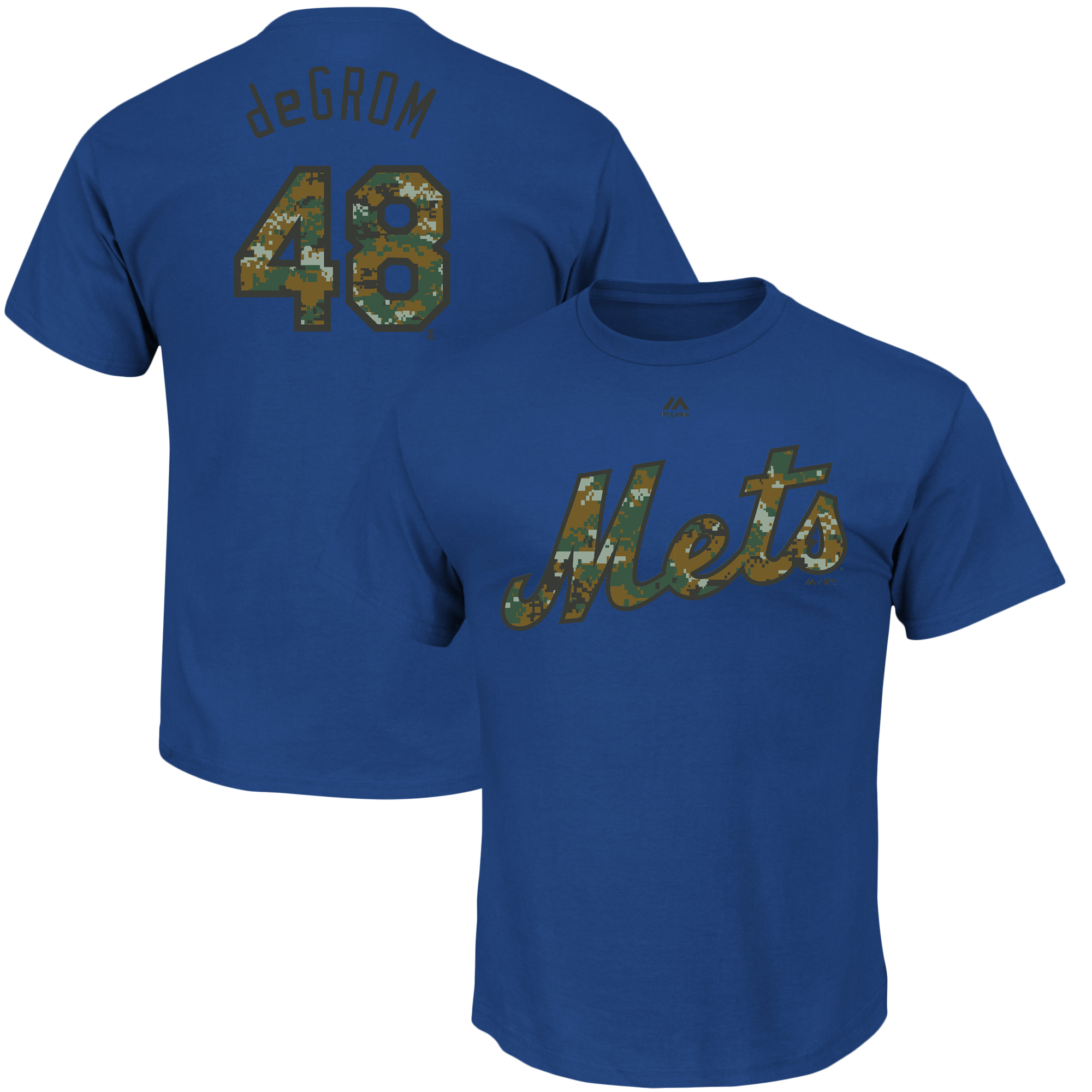 Jacob deGrom New York Mets Majestic Memorial Day Name & Number T-Shirt - Royal