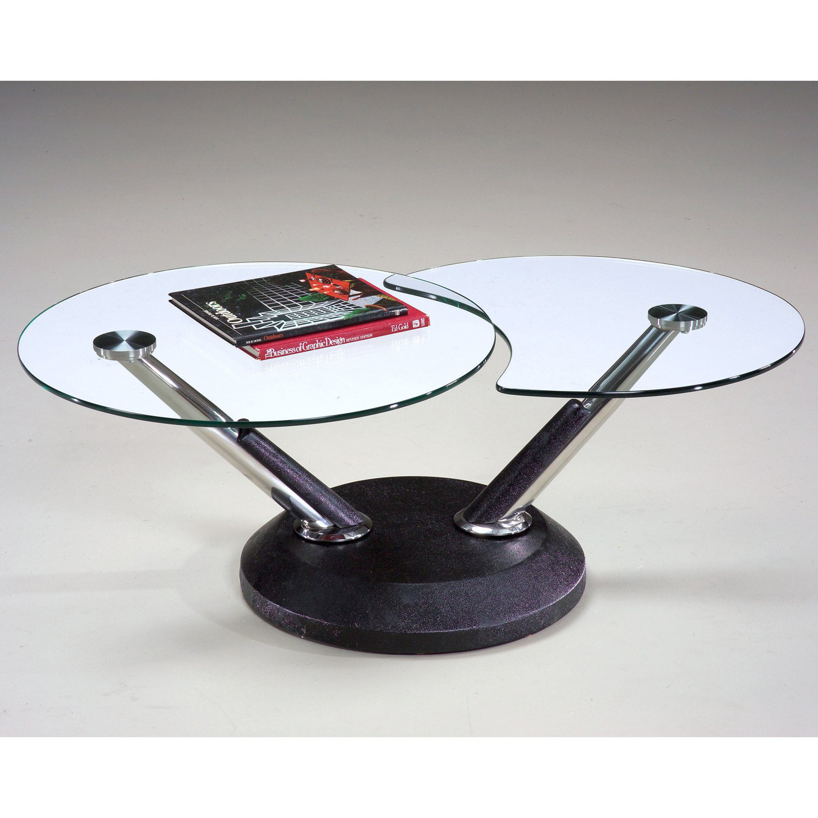 Magnussen 38000 Modesto Metal And Glass Swivel Coffee Table Com
