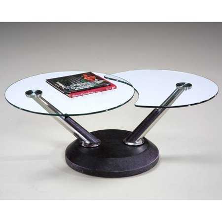 Magnussen 38000 Modesto Metal And Gl Swivel Coffee Table
