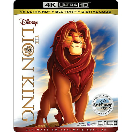 The Lion King (Ultimate Collector's Edition) (4K Ultra HD + Blu-ray + Digital) - Animation Halloween Lyon