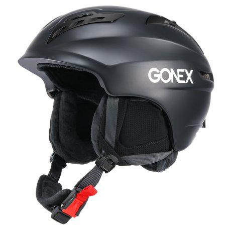 Ski Helmet, Gonex Winter Snow Snowboard Skate Helmet with Safety Certificate for Men, Women & Young, Matte Black M
