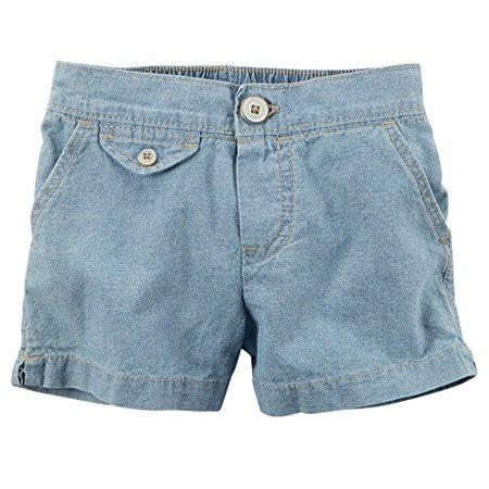 Little Girls' Flap Pocket Shorts Light Blue (6 Kids)