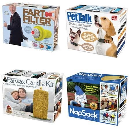 Set Nap Sack Pet Talk Earwax Candle Fart Filter Prank Gift Boxes