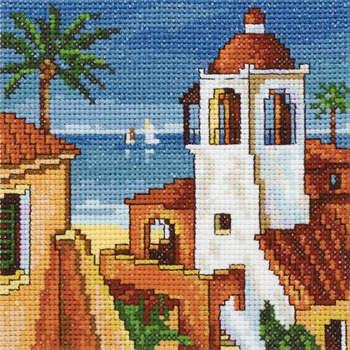 "Siesta II Counted Cross Stitch Kit, 5"" x 5"", 14-Count"