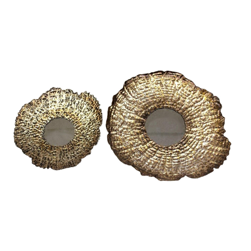 Set Of Two Metal And Mirror Wall D�cor, Gold