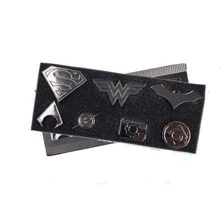 Justice League Super Heros Logo pin Set | Superman, Wonder Woman, Batman, Aquaman, The Flash, Cyborg and Green Lantern | Lightweight, Durable & Exclusive Gift Item (Heroes Pin)