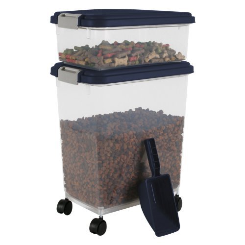 "IRIS Combo Food Storage Container with Scoop, 10.8"" W x 16.5"" D x 18.6"" H, Mulitple Colors Available"