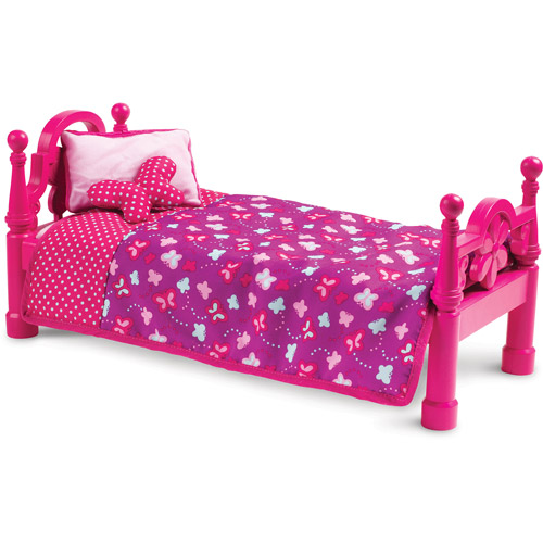 "My Life As Bed with Bedding 18"" Doll, Pink"