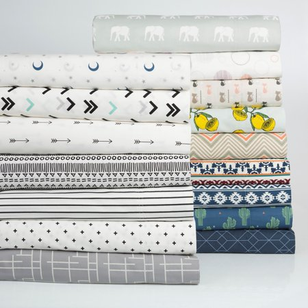 Mainstays 100% Cotton Percale Printed Sheet Set