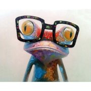 A cross-border digital oil painting wholesale frameless frog 4050 wish painting factory direct sales Without inner frame 40x50CM 3 frog with glasses