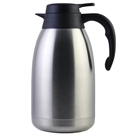 68 Oz Stainless Steel Thermal Carafe / Double Walled Vacuum Thermos / 12 Hour Heat Retention / 2 (Best Thermal Coffee Carafe)