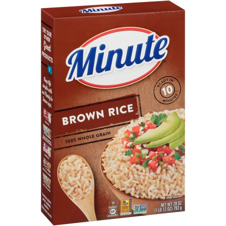 (3 Pack) Minute® Instant Whole Grain Brown Rice 28 oz. Box