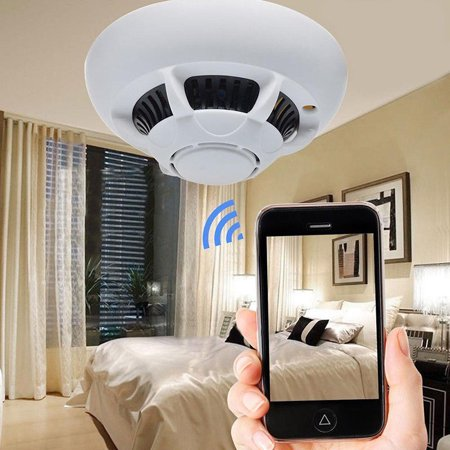Smoke Camera HD 1080P Wireless Wifi Detector Motion DVR Security US