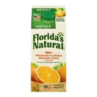 Florida's Natural 100% Premium Florida Orange Juice No Pulp, 52.0 FL OZ