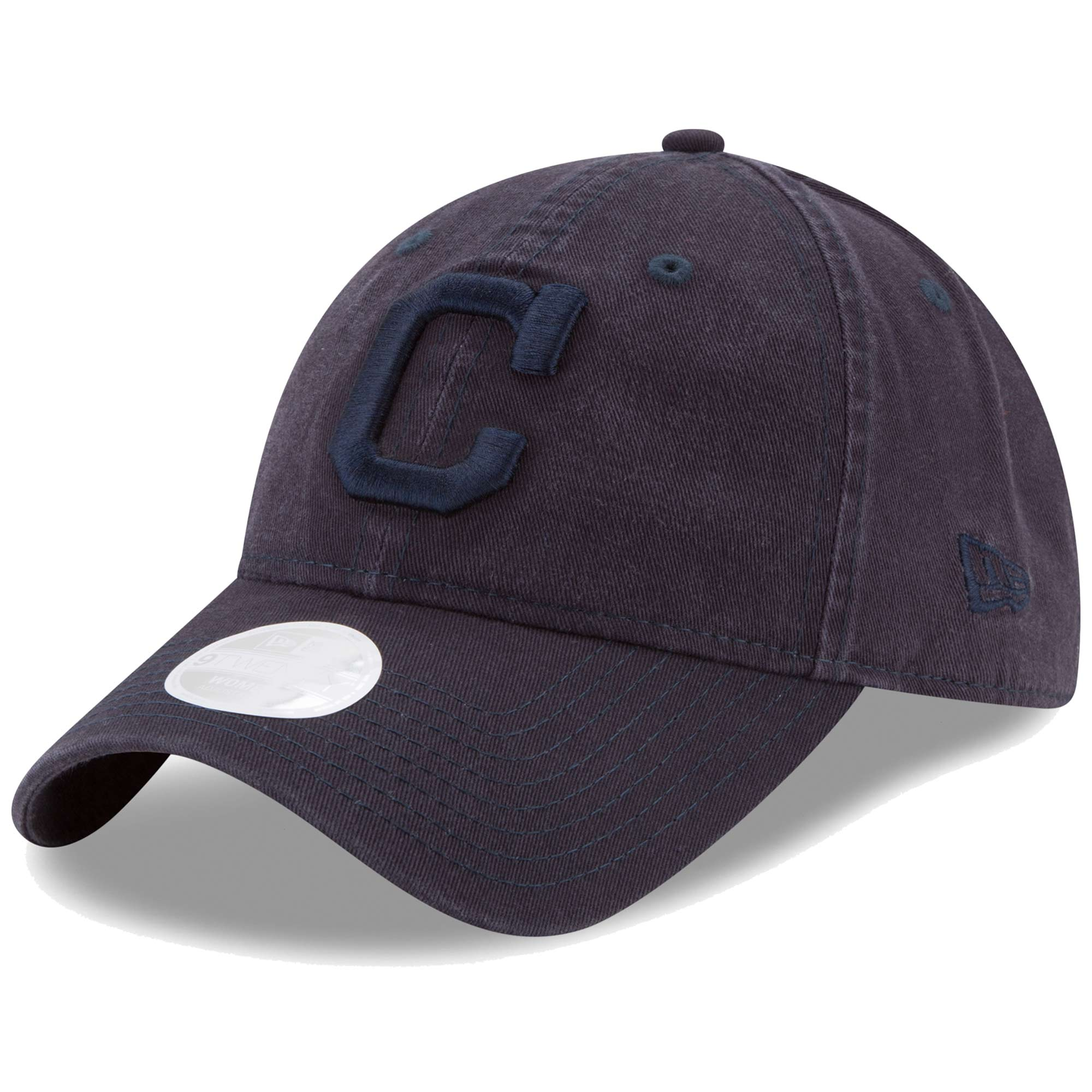 Cleveland Indians New Era Women's Preferred Pick Tonal 9TWENTY Adjustable Hat - Navy - OSFA