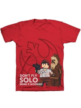 """Star Wars """"Don't Fly Solo"""" Red Short Sleeve Graphic Tee (Little Boys & Big Boys)"""
