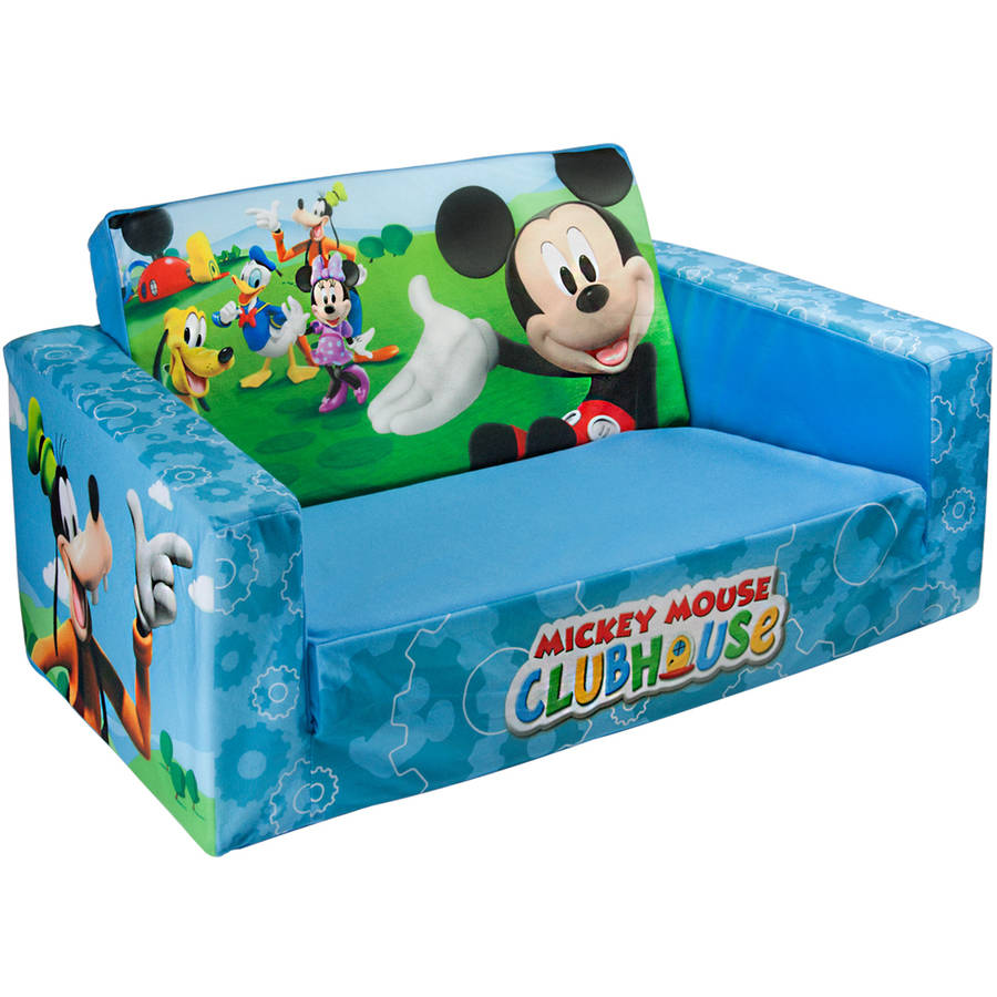 Marshmallow 2 In 1 Flip Open Sofa Disney Mickey Mouse Walmart Com