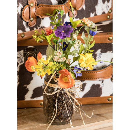 August Grove Wildflower Floral Arrangement in Pot (Set of 2)