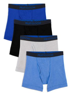 Fruit of the Loom Breathable Cotton Mesh Boxer Brief Underwear, 4 Pack (Toddler Boys)