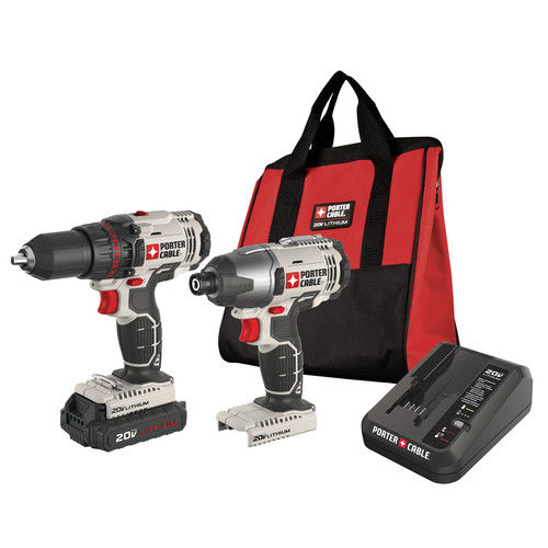Porter-Cable PCCK604LA 20-Volt Max Cordless 2-Tool Combo Kit With Battery by Porter Cable