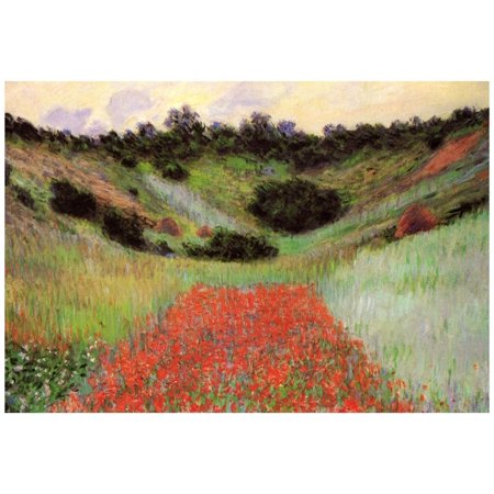 Claude Monet Poppy Field of Flowers in Giverny Art Print Poster - - Poppy Field Gift