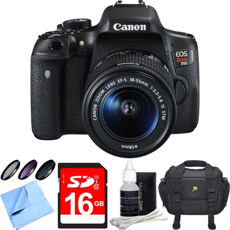 Compact Filter Case - Canon EOS Rebel T6i Digital SLR Camera w/ EF-S 18-55mm IS STM Lens Bundle includes Camera, Lens, 58mm Filter Kit, Compact Gadget Bag, 16GB SDHC Memory Card, Lens Cleaning Kit and Beach Camera Cloth
