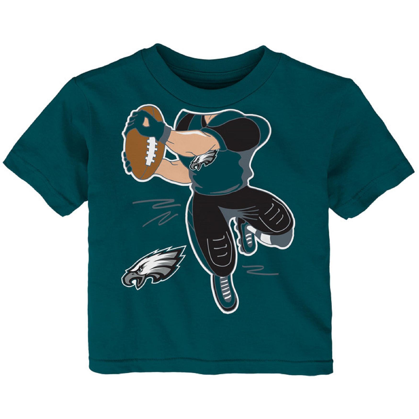 Toddler Midnight Green Philadelphia Eagles Receiver T-Shirt
