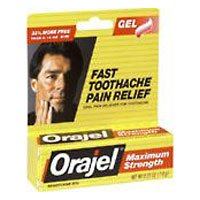 Orajel Force maximale Toothache Relief Gel - 1/3 Oz, Pack 2
