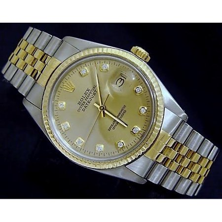 Preowned Rolex Mens Datejust 16013 Two-Tone Watch (Certified Authentic/Warranty)